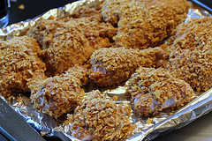 cornflake coated chicken
