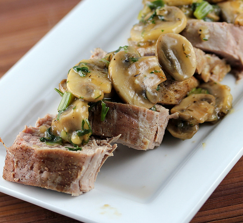 Pork Tenderloin with Sherry Mushroom Sauce Recipe