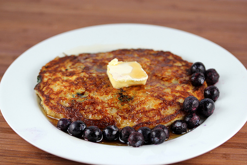 Blueberry Oatmeal Pancake Recipe