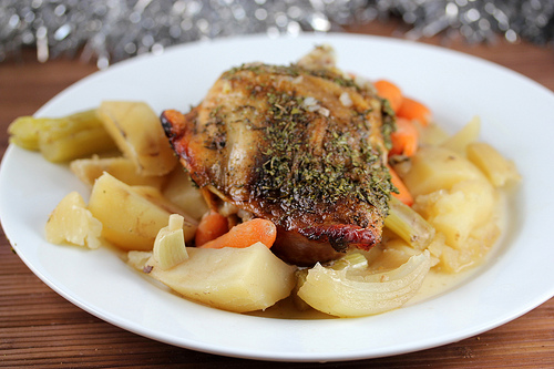 Slow Cooker Turkey Thighs Pot Roast