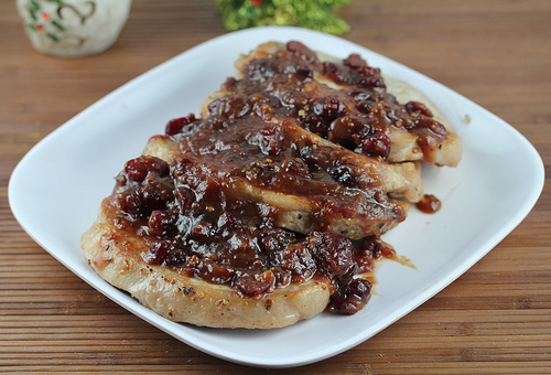 Cranberry Glazed Pork Chops Recipe