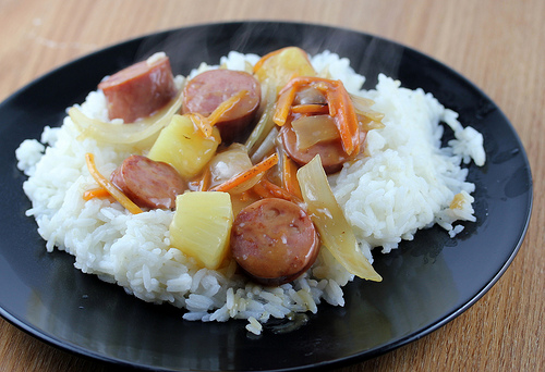 Sweet and Sour Sausage Stir Fry