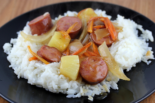 Sweet and Sour Sausage Stir Fry Recipe