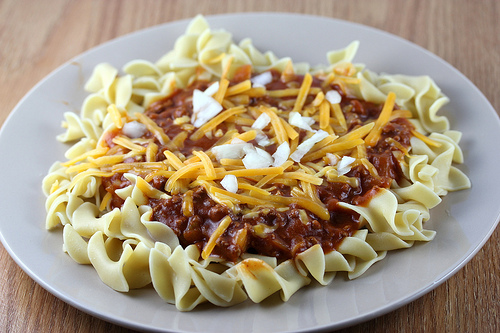 Chili Beef and Noodles Recipe
