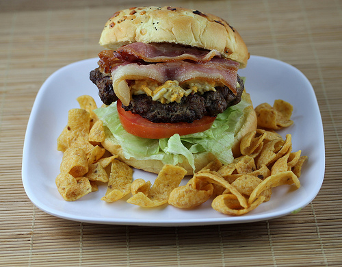 Grilled Dijon Bacon Cheeseburgers