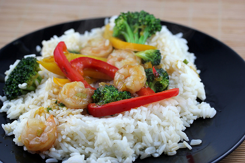 Shrimp Stir Fry Recipe with Fresh Squeezed Orange Juice