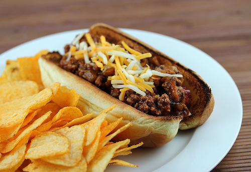 Hot Dogs Con Carne Recipe