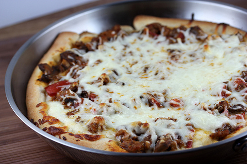 Sausage Pan Pizza Recipe