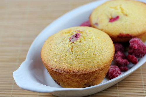 Low Fat Raspberry Corn Muffins Recipe
