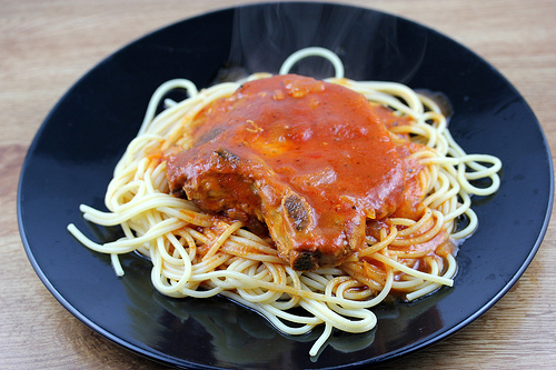 Slow Cooker Spaghetti Pork Chops Recipe