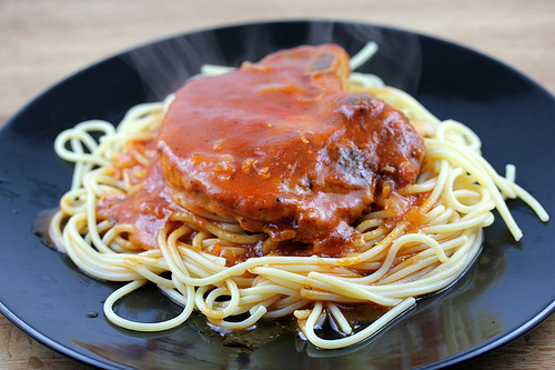 Slow Cooker Spaghetti Pork Chops Recipe Free Delicious