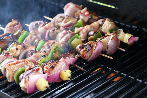 Chicken and Bacon Shish Kabobs Recipe