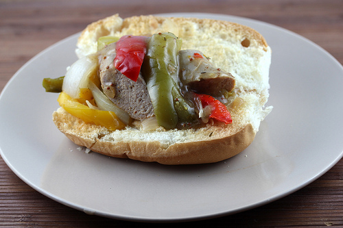 Slow Cooker Sausage and Peppers with Homemade Mild-Hot Italian Sausage