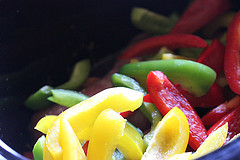 sweet peppers and sausage
