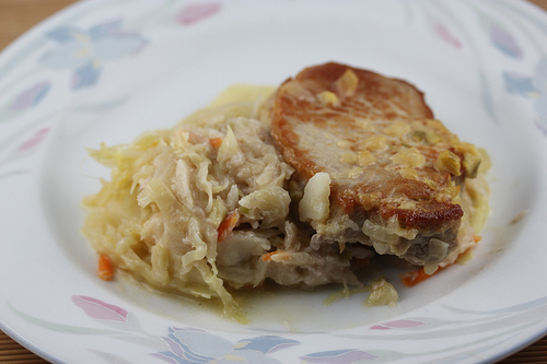 One Dish Baked Pork Chop Dinner Recipe