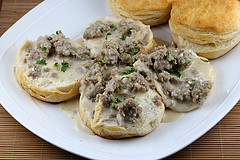 Reduced Fat Biscuits and Sausage Gravy Recipe