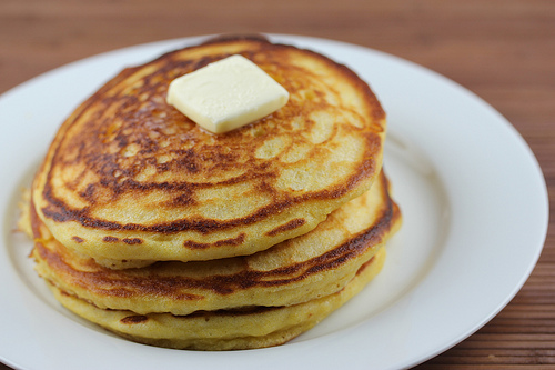Buttermilk Cornmeal Pancakes Recipe — Dishmaps