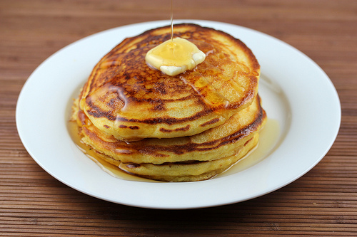 Cornmeal Buttermilk Pancakes Recipe