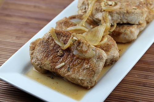 Smothered Boneless Pork Chops