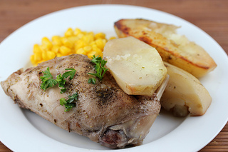 rabbit and potatoes