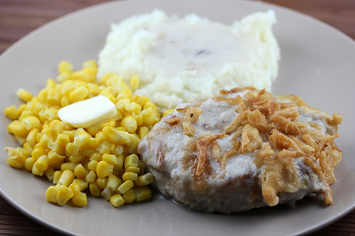 creamy pork chop dinner