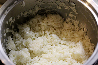parcooked rice