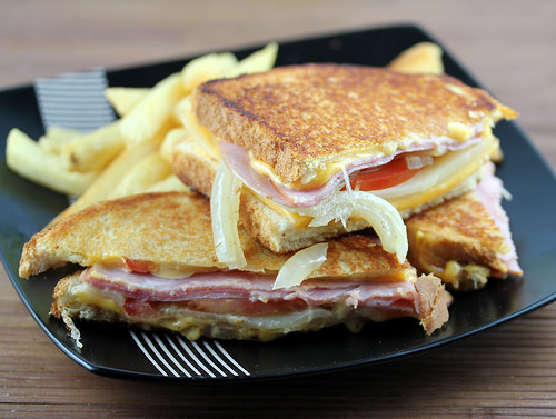 Grilled Cheese with smoked ham and swiss