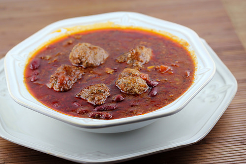 chili and meatballs casserole recipe