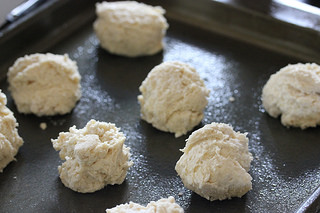 raw basic buttermilk drop biscuits