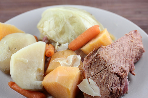 Slow Cooker Boiled Dinner with Leftover Ham Recipe