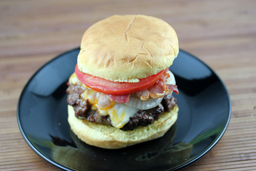 Beer Braised Onion Burgers Recipe
