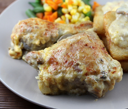 One Dish Chicken and Cheese Gravy Recipe