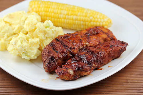Grilled Barbecued country style ribs recipe