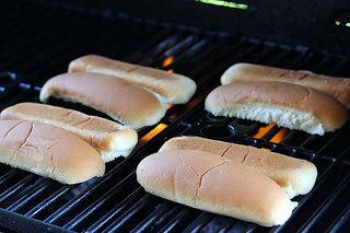 grill toasting buns