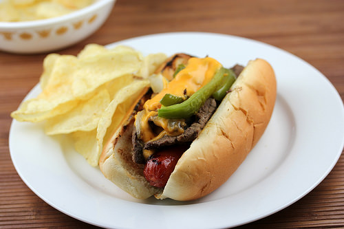 philly cheese steak hot dogs recipe