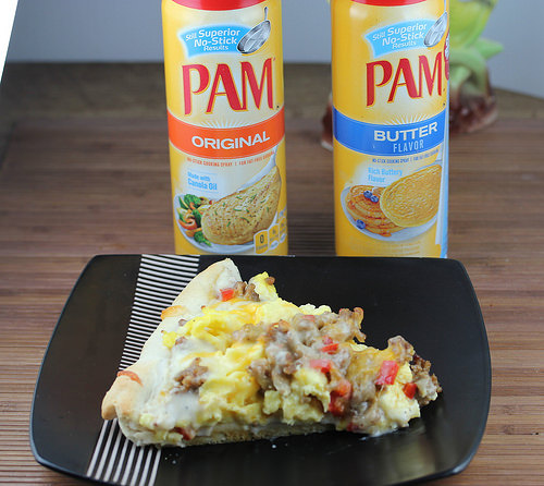 breakfast pizza with PAM
