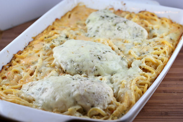 four cheese chicken alfredo casserol post