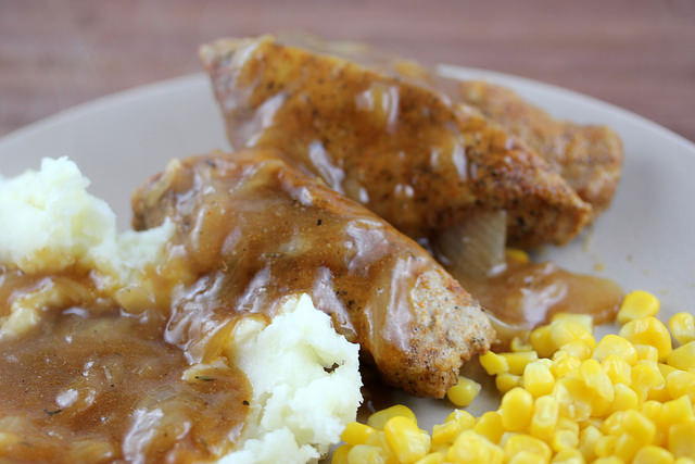 Smothered Boneless Pork Ribs Recipe
