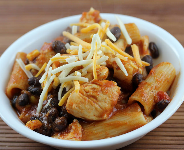 southwestern chicken and pasta recipe