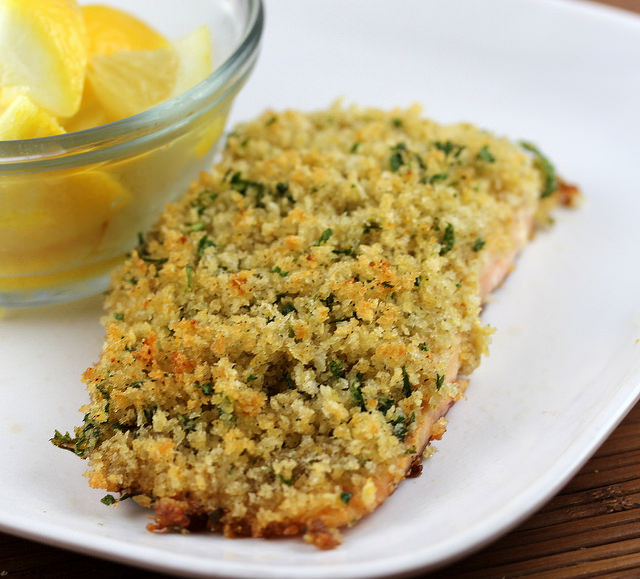 Oven Baked Panko Crusted Salmon | Free Delicious Italian Recipes ...