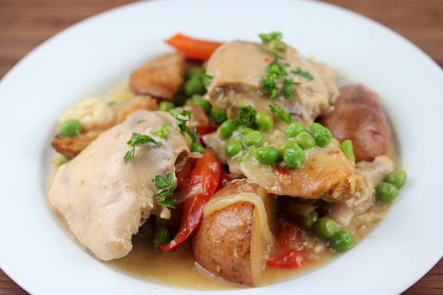 slow cooker chicken vesuvio recipe