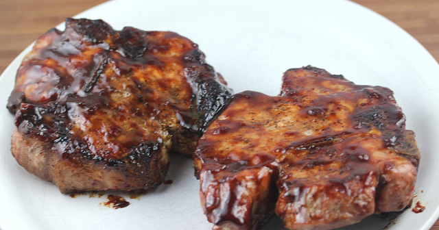 grilled smoked pork chops recipe