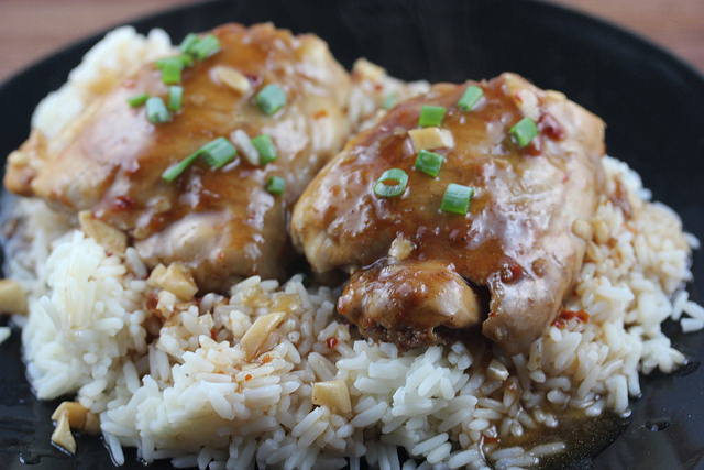 oriental chicken thighs recipe
