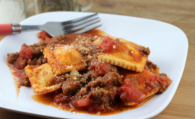 beef and cheese ravioli
