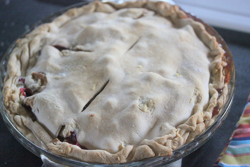 baked apples and cranberry pie