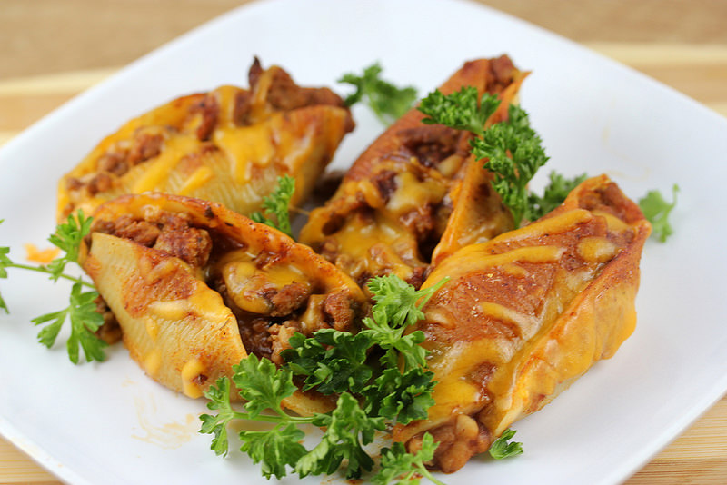 simple enchilada stuffed shells recipe