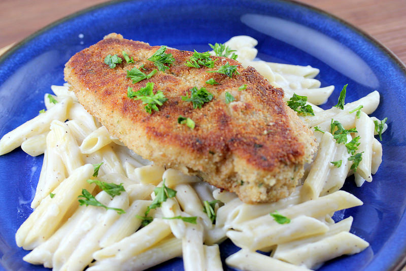 Italian Crispy Chicken with Penne Pasta Recipe 1