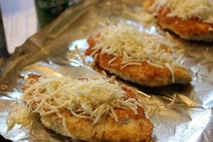 cheese on parm chicken