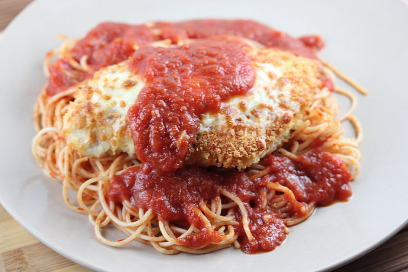 chicken parmesan for 2 recipe