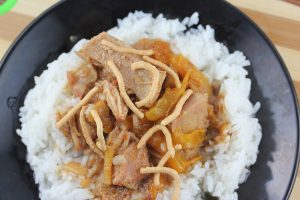 slow cooker thai pork with peppers recipe